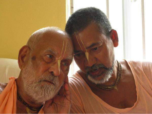 Srila Gurudeva with Sripad Madhav Maharaja